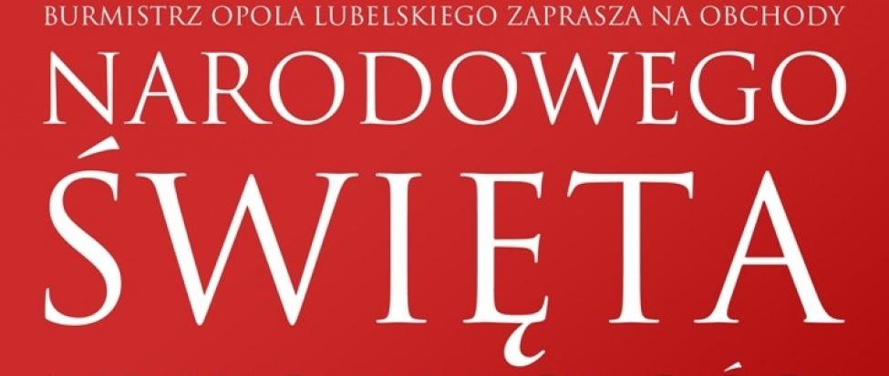Plakat zapraszający na uroczystości z okazji 11 listopada